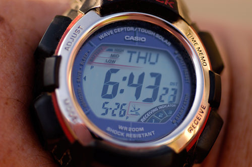 how to change dst on g shock